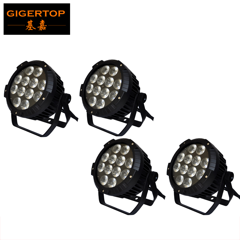 Cheap Price 4 Unit 12x18W Portable Led Par 64 RGBWA UV Magic DMX Disco Outdoor Lamp sound activated lighting 6/10 channels