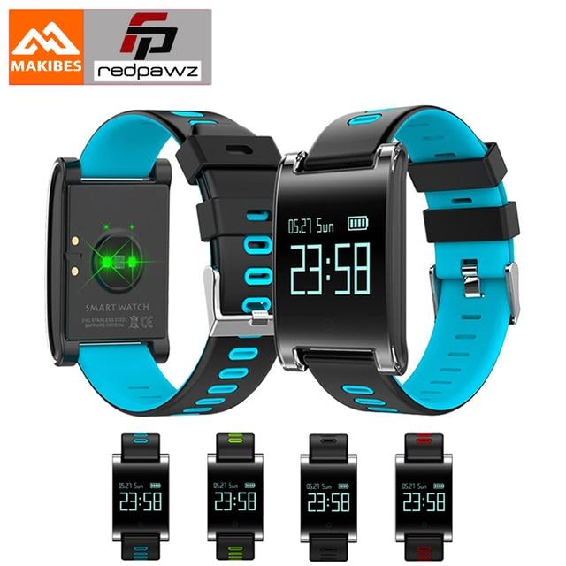 dd3c5bdcc4fa € 25.2 |Makibes DM68 Plus inteligente muñequera presión arterial Monitor  del ritmo cardíaco Bluetooth llamada de recordatorio rastreador de ...