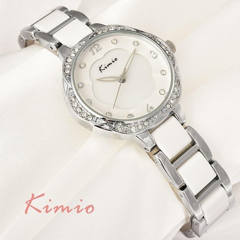 KIMIO ยี่ห้อพลัมดอกไม้แบบ Dial - นาฬิกาสตรี
