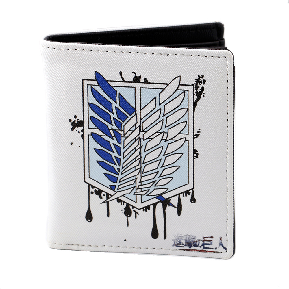 Attack on Titan Wallet Short Purse Card Holders Shingeki no Kyojin Denim Canvas Notecase Oxford Souvenir Bag Fans Gifts Handbag