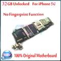 1 pcs motherboard com chips de 32 gb desbloqueado original para iphone 5c, para iphone 5c mainboard bom trabalho & 100% teste bem