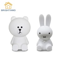 Baby Bedroom Feeding Lamp Decoration Kids Lovely Desk Lights Rabbit 30 50 80cm Big Night Light