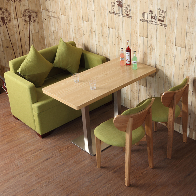 Small Fresh Green Fruit Dessert Tables And Chairs Combination Tea Shop Cafe  Tables And Chairs Sofa