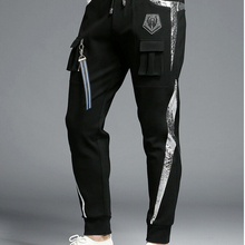 Спортивная одежда, повседневные эластичные хлопковые мужские штаны для фитнеса и тренировок, обтягивающие спортивные штаны