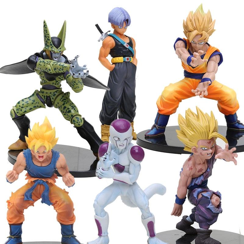 Dragon Ball Z figurine Vegeta Trunks Son Goku Gohan Cell Frieza DRAMATIC SHOWCASE dragonball Action Figures toy 11-21cm figurine