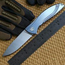 Neon ceramic ball bearing D2 titanium flipper folding Kitchen Fruit camp hunting outdoor survive Utility Tactical knife EDC tool