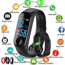 Pulsera de banda inteligente M3 reloj deportivo Bluetooth pulsera de Frecuencia Cardíaca de presión arterial para Mujeres Hombres PK M4 M2
