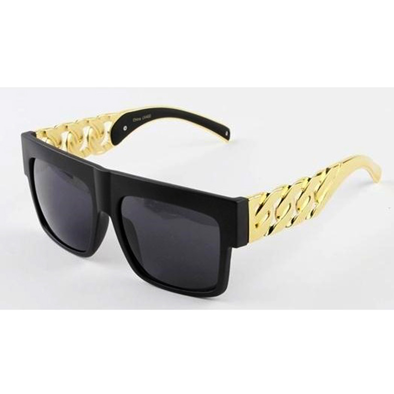 Kim kardashian Beyonce Celebrities Style Metal Gold Chain Oversized Sunglasses Men/ Women Free shipping!!