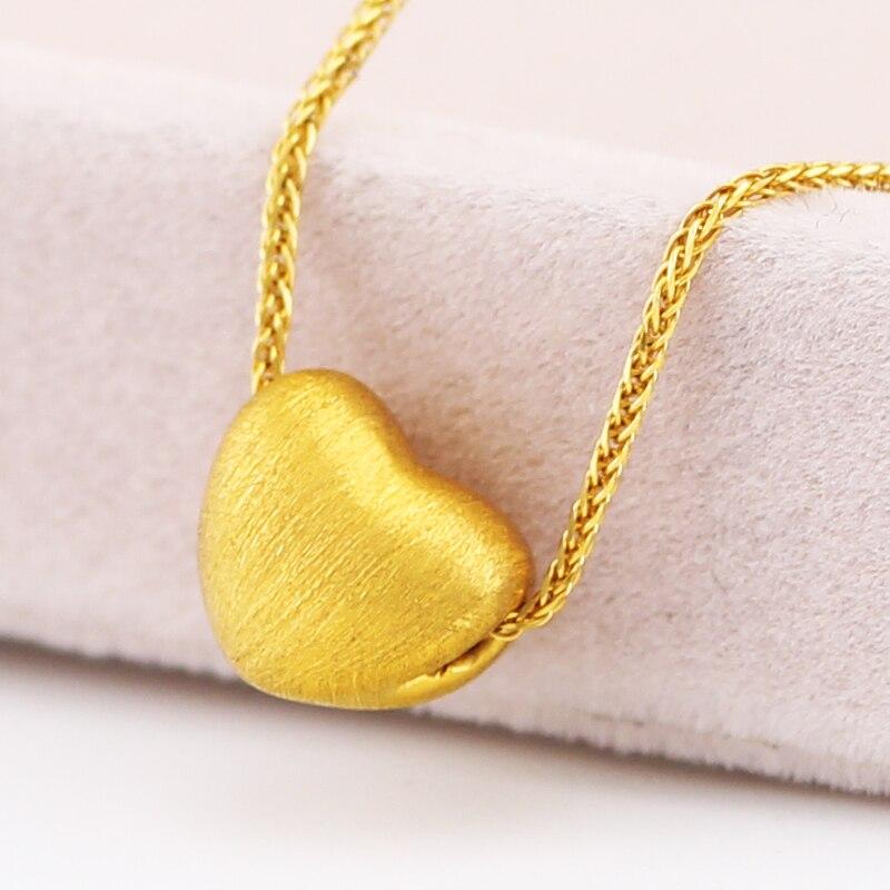 24 K Geel Gouden Hanger Hot koop Vrouwen 999 3D Geel Goud Liefde Hart Hanger P6217-in Hangers van Sieraden & accessoires op  Groep 3