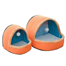 Colorful Plush Pet Bed & House