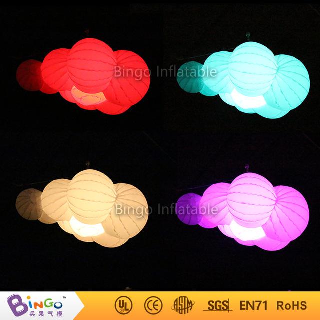 Color cambiable 1.6 metros BG-A0670 nube inflable con luz led iluminación decoración intermitente juguete