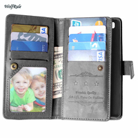 Case For Huawei P8 Lite Cover Business Phone Wallet Flip PU Leather TPU Case For Huawei