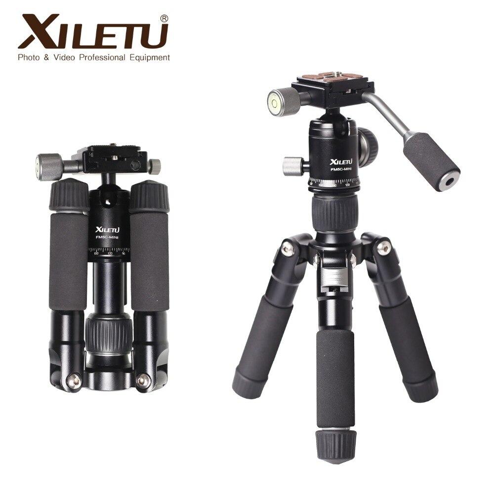 XILETU FM5C-MINI Alluminio Stabile Da Tavolo Desktop Treppiede e Testa A Sfera Per La macchina fotografica Digitale Mirrorless fotocamera Smart phone