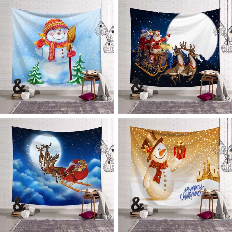 New Year XMAS Art Home Wall Hanging Tapestry Wall Ornamentation Christmas Wall Decor High Quality Tapestry Festival Party Decor