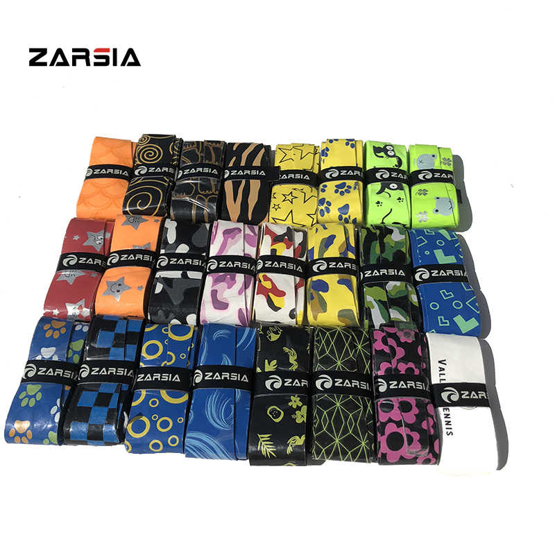 10pcs ZARSIA New Sticky feel Tennis overgrips various printing colorful badminton racket fragrant overgrips