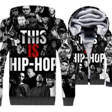 rapper hip-hop man's tracksuits 2019 winter casual wool liner jackets coats men funny 3D printed new fashion sweatshirt clothing цена и фото