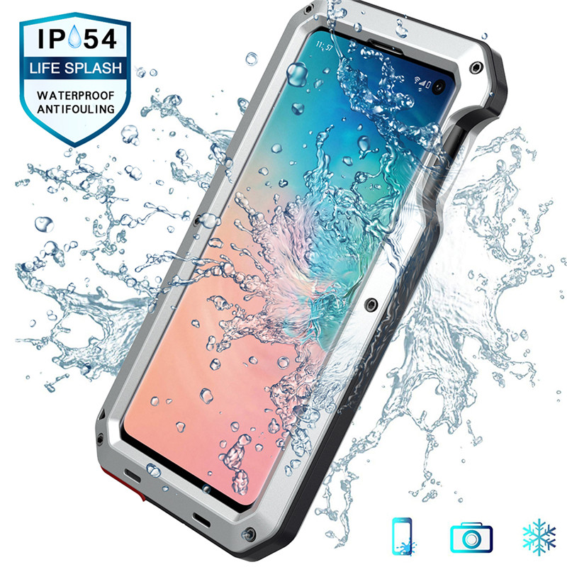 Luxury Doom Armor Case For <font><b>Samsung</b></font> Galaxy <font><b>S10E</b></font> Metal Cases S10 Plus Shockproof Full Protective Rugged Military Protection Funda image