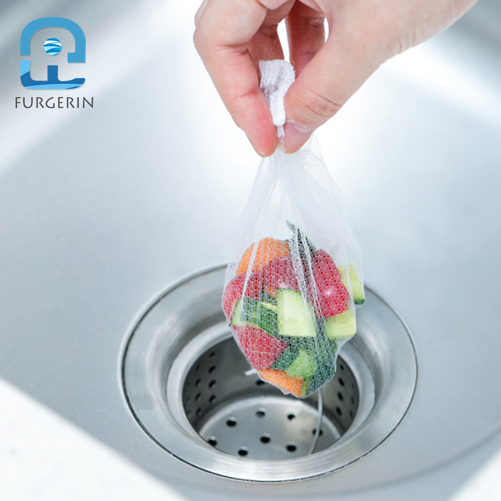 FURGERIN 100PCS Kitchen Sink Filter mesh bag Tub Hair Catcher Shower Floor Drains drain filter Bathroom Kitchen Sink Accessories