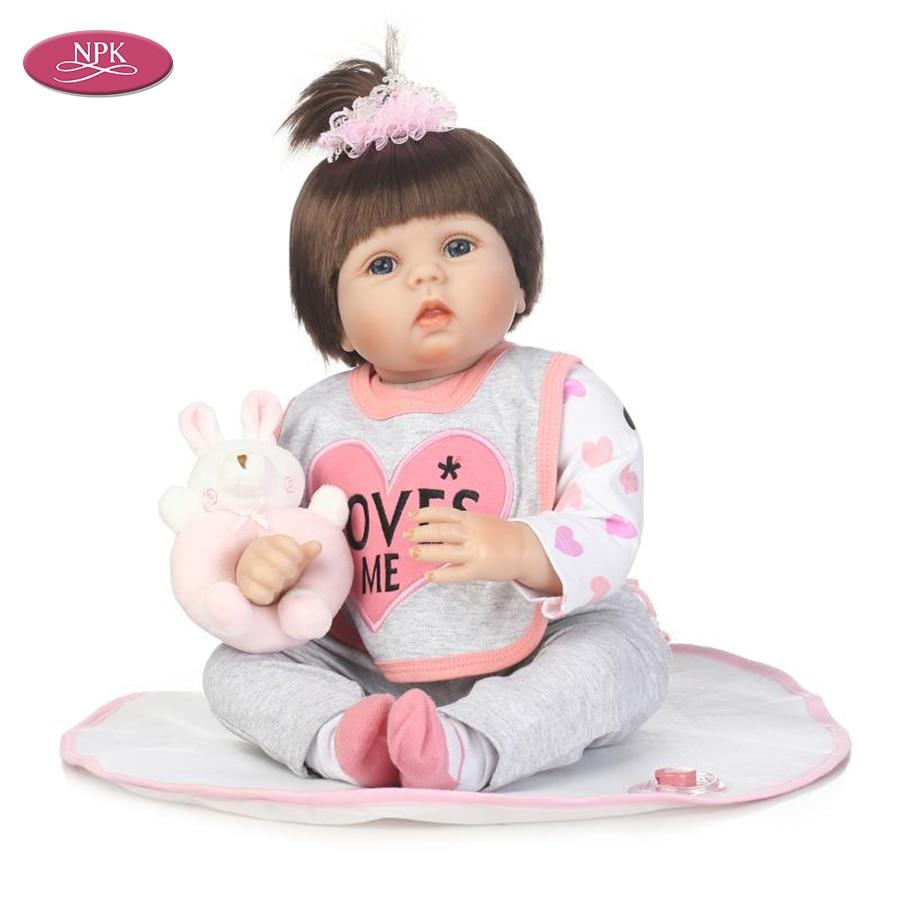 "22/"" inch Baby Reborn Doll Vinyl Silicon Lifelike Baby Toddler Girl Kid Reborn"