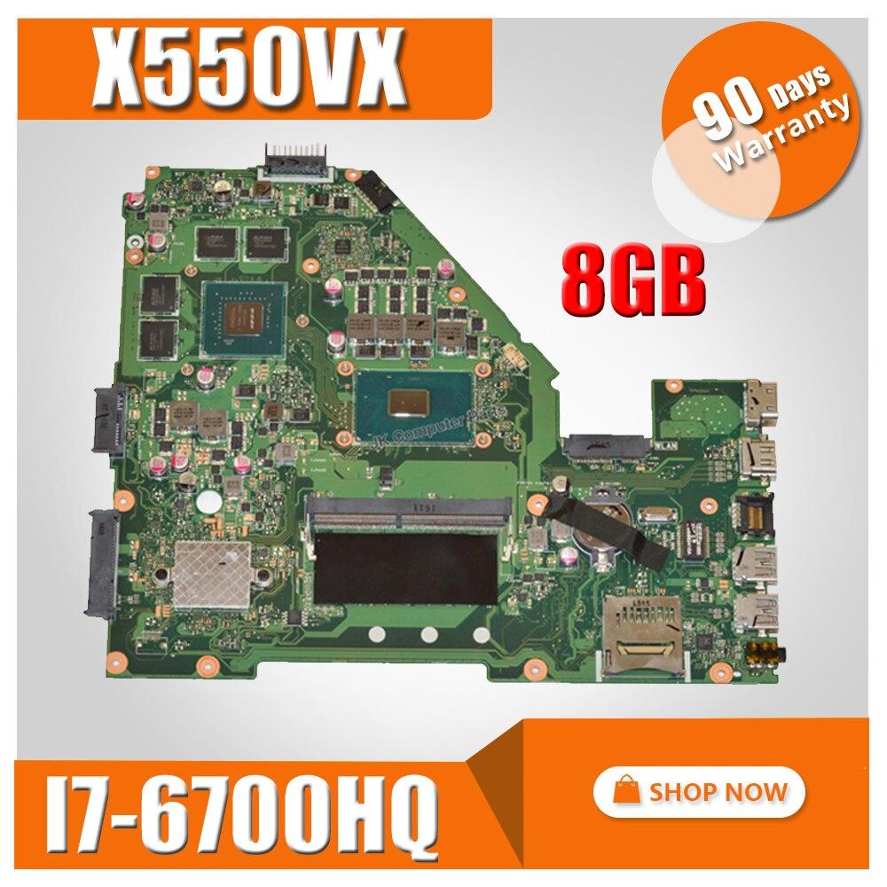 X550VX MB._8G/I7-6700HQ/AS V2G X550VX Mainboard REV 2.0 For ASUS FX50V K550VX X550VX X550VQ X550V X550 Motherboard Test ok мойка ilve sk100 v2g