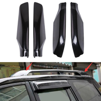 For Toyota Land Cruiser Prado Fj120 2003 2009 Car Roof Rack Bar Rail End Protection Cover Shell Car Styling Accessories ABS