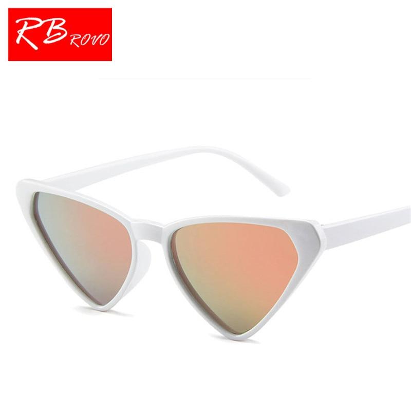 RBROVO 2018 Cat Eye Triangle Sunglasses Women Brand Designer Candy Color Vintage Sun Glasses Outdoor UV400 Oculos De Sol