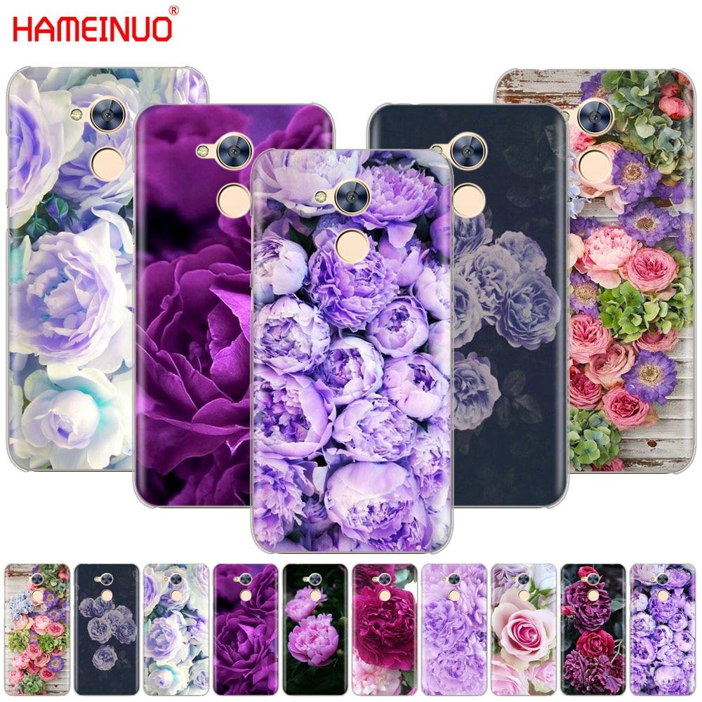 Hameinuo Purple Summer Peonies Flowers Peony Fashion Cover Phone