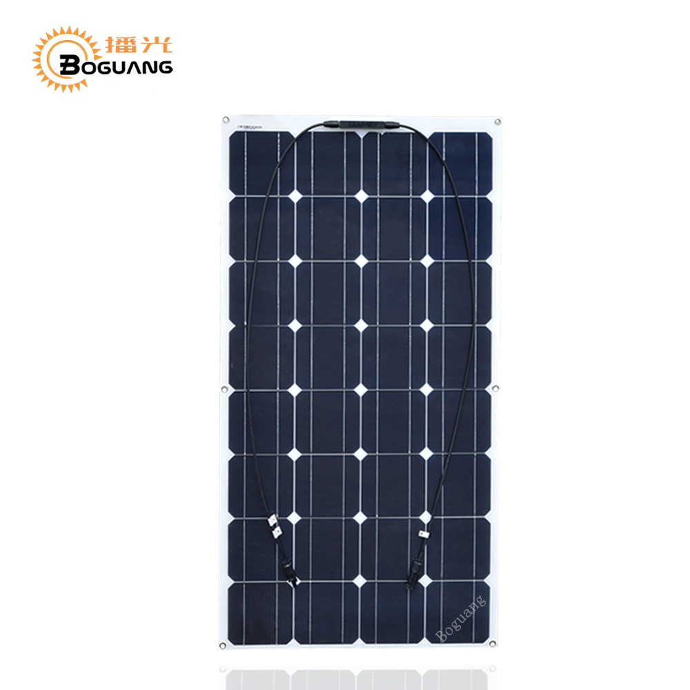 Boguang 100W flexible Solar Panel cell olar power fishing boat RV 12V solar panel module cell