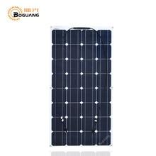 Boguang 100 W flexible Panneau Solaire cellulaire olar puissance de pêche bateau RV 12 V panneau solaire module cellulaire système kits batterie solaire charge