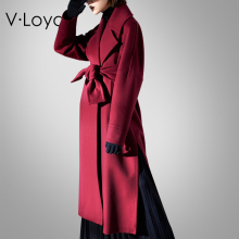 New fashions in autumn and winter, fashionable fur, long cashmere coats Europe America