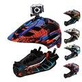 GUB Kamera Installierbar Kinder Radfahren Helm Kinder Fullface Fahrrad Helm Mit LED Rücklicht Fahrrad Helm Für Casco Scooter BMX