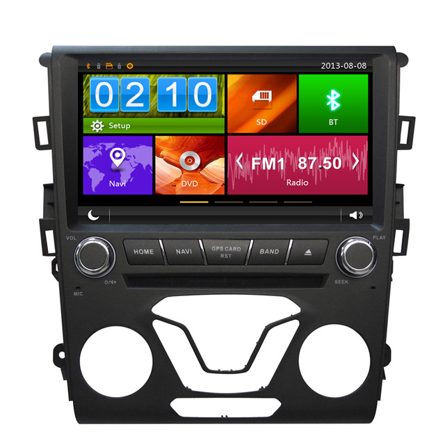 9 inch Car DVD Player GPS Navigation For Ford Mondeo 2013 2014 2015 (2 A/C) Radio Map USB SD OBD DVR Steering wheel control