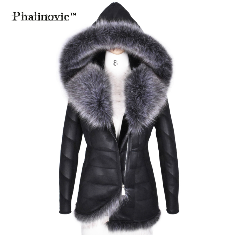 Phalinovic 2019 Winter Women Faux Fur   Leather   Coat Warmer Excellent Quality Thick Fur Jacket Woman Parkas Plus Size 5xl 6xl
