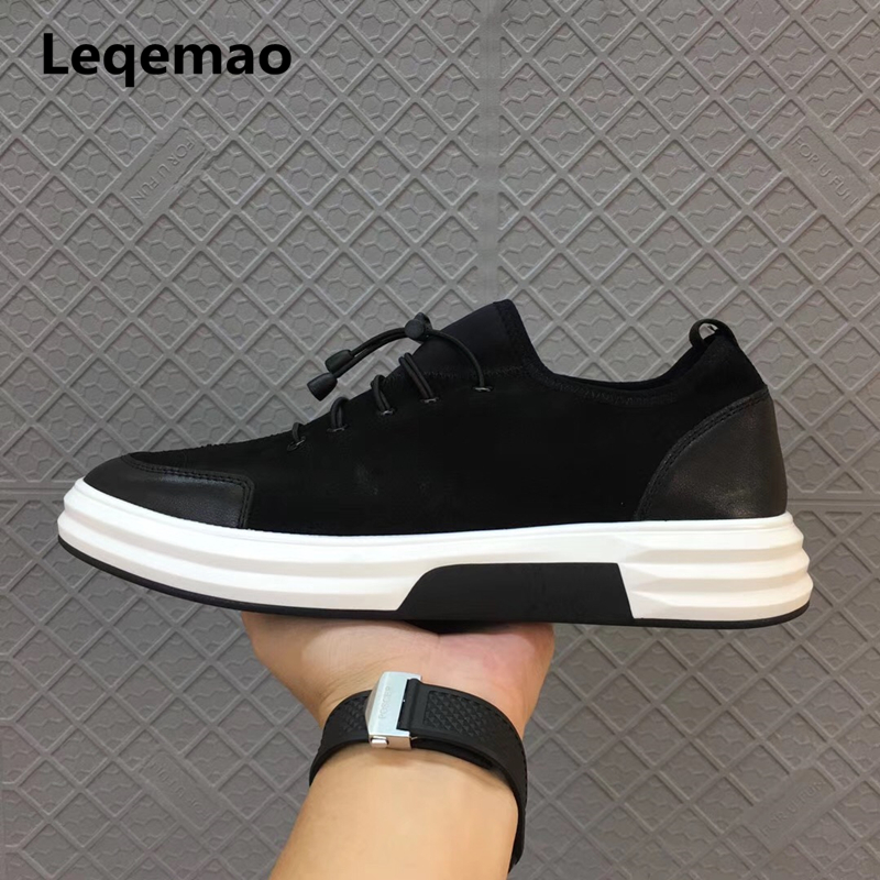 New Spring Autumn Fashion Leqemao Brand Men Casual Shoes Oxford Genuine Leather High Quality Lace-up Comfortable Shoes Black cbjsho brand men shoes 2017 new genuine leather moccasins comfortable men loafers luxury men s flats men casual shoes