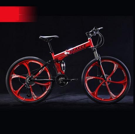 Markë e re 24/26 inç çeliku karboni rrota 21/24/27 biçikletë - Çiklizmit - Foto 2