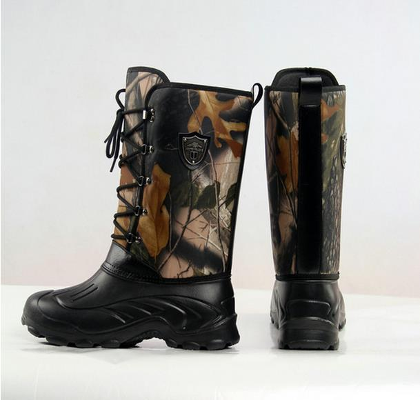 PLUS size mens Camouflage hunting fishing Boots Wellington wear boots EVA Lightweight camouflage waterproof snow boots 30cm plus size camouflage beam feet jogger pants