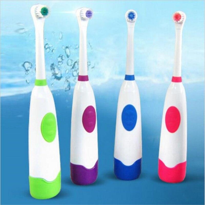 Vendita calda Rotante spazzolino da denti elettrico adulto spazzolino da denti elettrico per bambini spazzolino 2 teste della spazzola impermeabile rotazione spazzole oral
