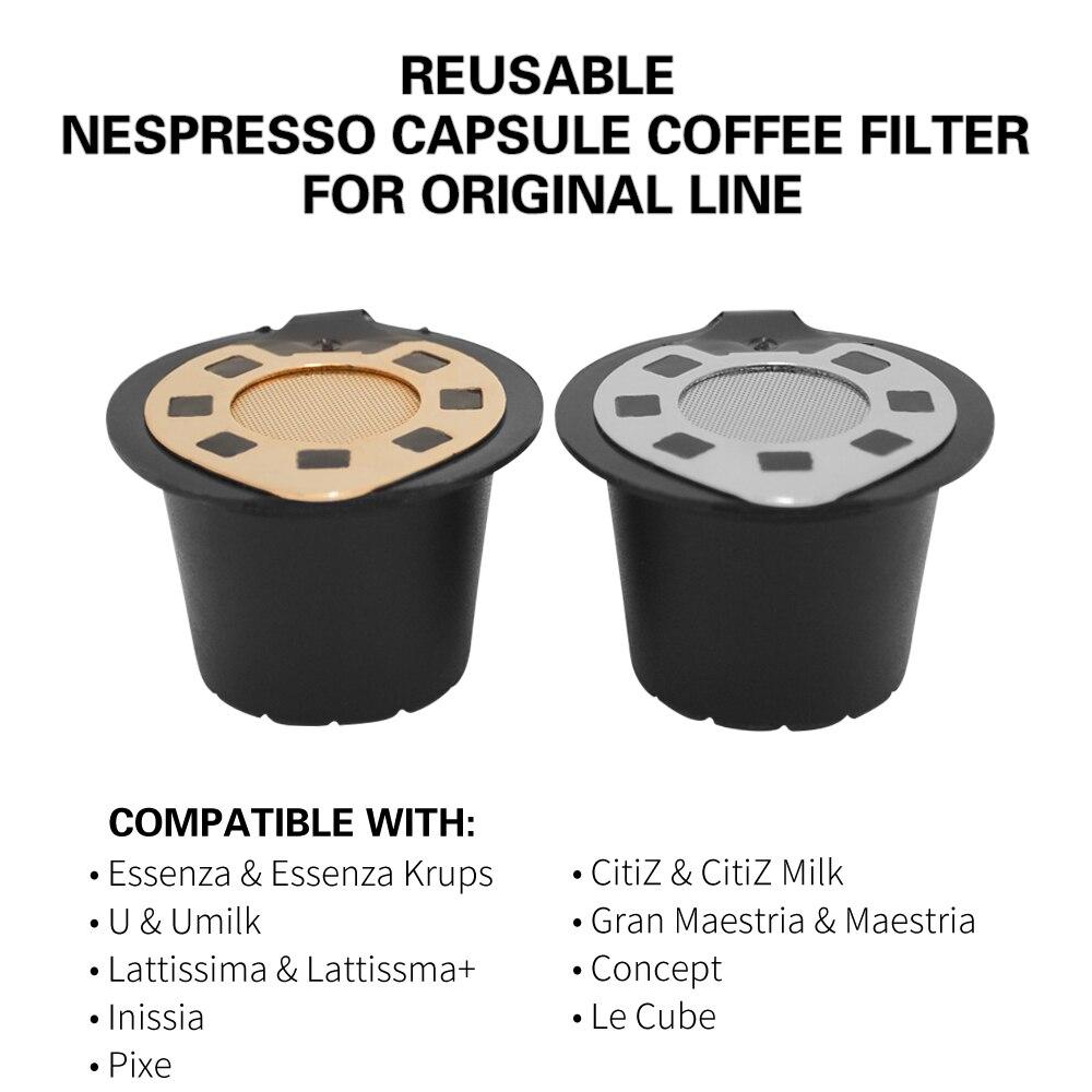 Dolce Gusto Nachfüllbare Wiederverwendbare kaffeetasse Für Nespresso Filter Kompatibel mit Nespresso Maschine...