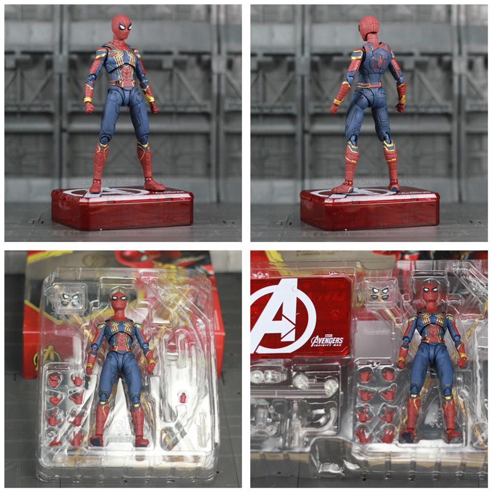 """Image 5 - Marvel Avengers Iron Spider Man 6"""" Movie Action Figure Tom Holland Legends Spiderman Far From Home Endgame Toys Doll KO's SHF-in Action & Toy Figures from Toys & Hobbies"""
