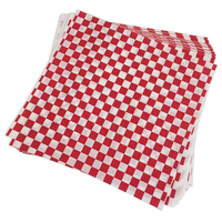 YHYS 100 PCS checkered deli candy basket liner Food Wrap Papers, Fat Repellent, Sandwich Burger Packing, Red and White
