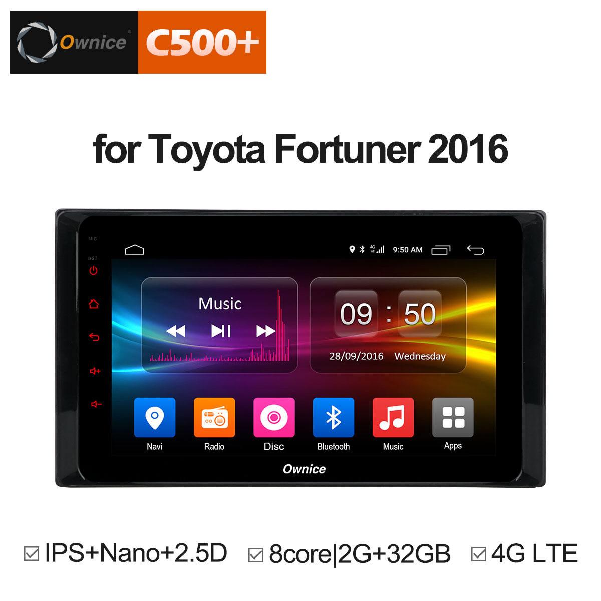 цена на Ownce C500+ G10 Radio 8 Core Car DVD Android 8.1 for Toyota RAV4 Hilux Fortuner Innova Prado 2016 GPS Navigation Vedio Player 4G