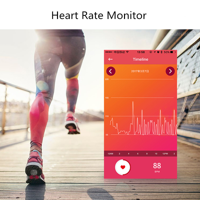 SIOYI L42A Heart Rate Monitor Fitness Tracker Smart Wristband BT 4.0 Sleep Monitor Sport Bracelet Smart Band For iOS Android