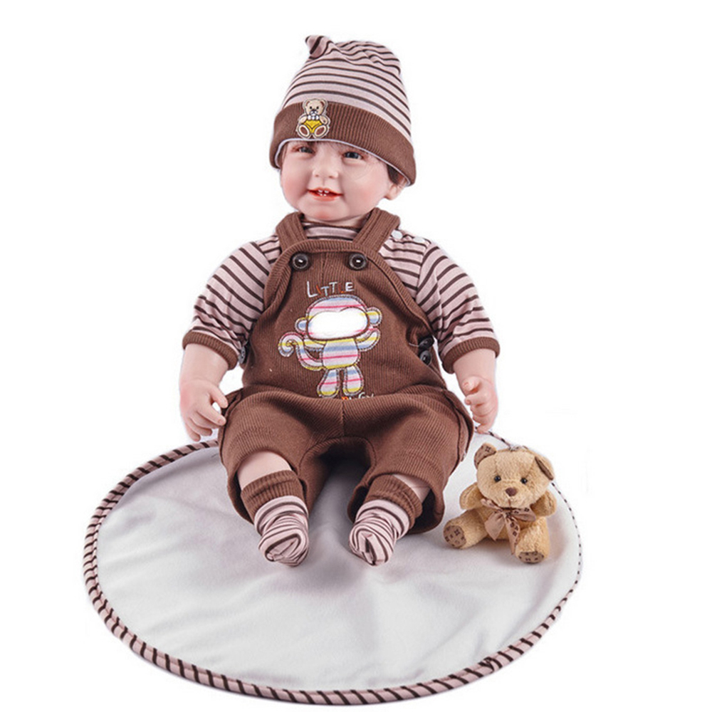55cm Smile Reborn Girl Doll Soft Silicone Lovely Princess Newborn Baby with Cloth Body Toy for Kids Birthday Christmas Gift 33xl t33 t3361 t3364 with auto reset chip continuous ink supply system for epson xp 530 640 645 635 630 540 830 900 printer ciss