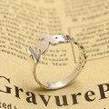 Atacado Moda Anéis de Noivado para as mulheres Nome personalizado Anel de Prata Gravado placa de Identificação Personalizada Sólida Clássico Anéis