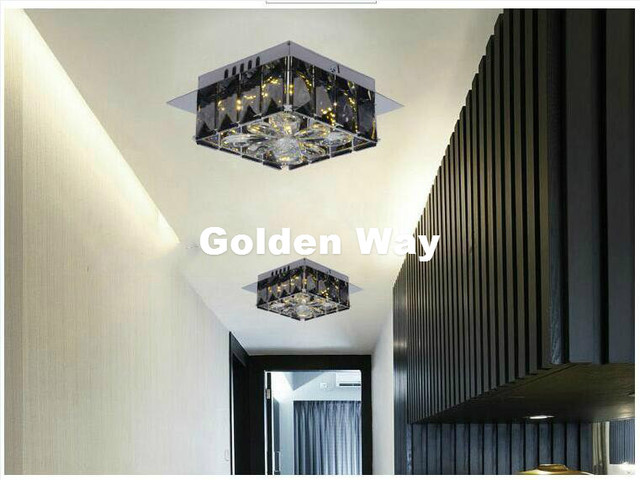 Slaapkamer Lamp Led : Moderne smokey w cm led w crystal plafondlamp woonkamer lamp