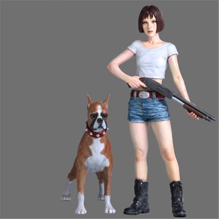 1/24 resina figuras de chica japonesa y perro sin pintar montar resina envío gratuito kit de R20