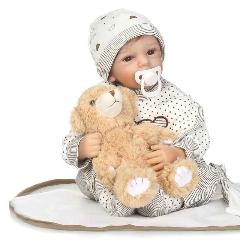 50 см Новорожденный ребенок перерожденные куклы Младенцы силиконовые милые мягкие моделирование младенцев кукла-подруга подарки на день рождения для детей; наряд для фотосессии