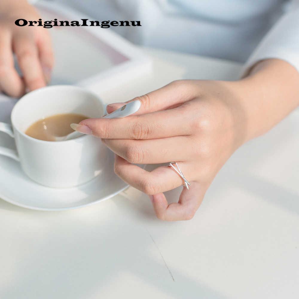 Anillos ข้ามแหวนเงิน 925 เครื่องประดับ Vintage Charm Boho Minimalism วันเกิดของขวัญ Haut Femme Bague Femme แหวน