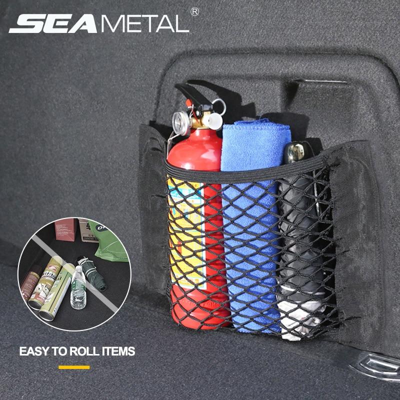 Car Organizer Nylon Car Trunk Net Mesh Universal Auto Storage SUV Luggage Nets Automobile Seat Back Holder Pocket Accessories