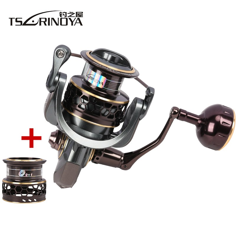TSURINOYA Jaguar 4000 Spinning Fishing Reel Double Spools 9 + 1BB - Visvangst